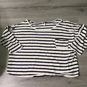 Body Central Striped Crop Top